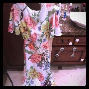 New ASOS flora maxi open back dress